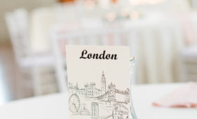 travel themed wedding table